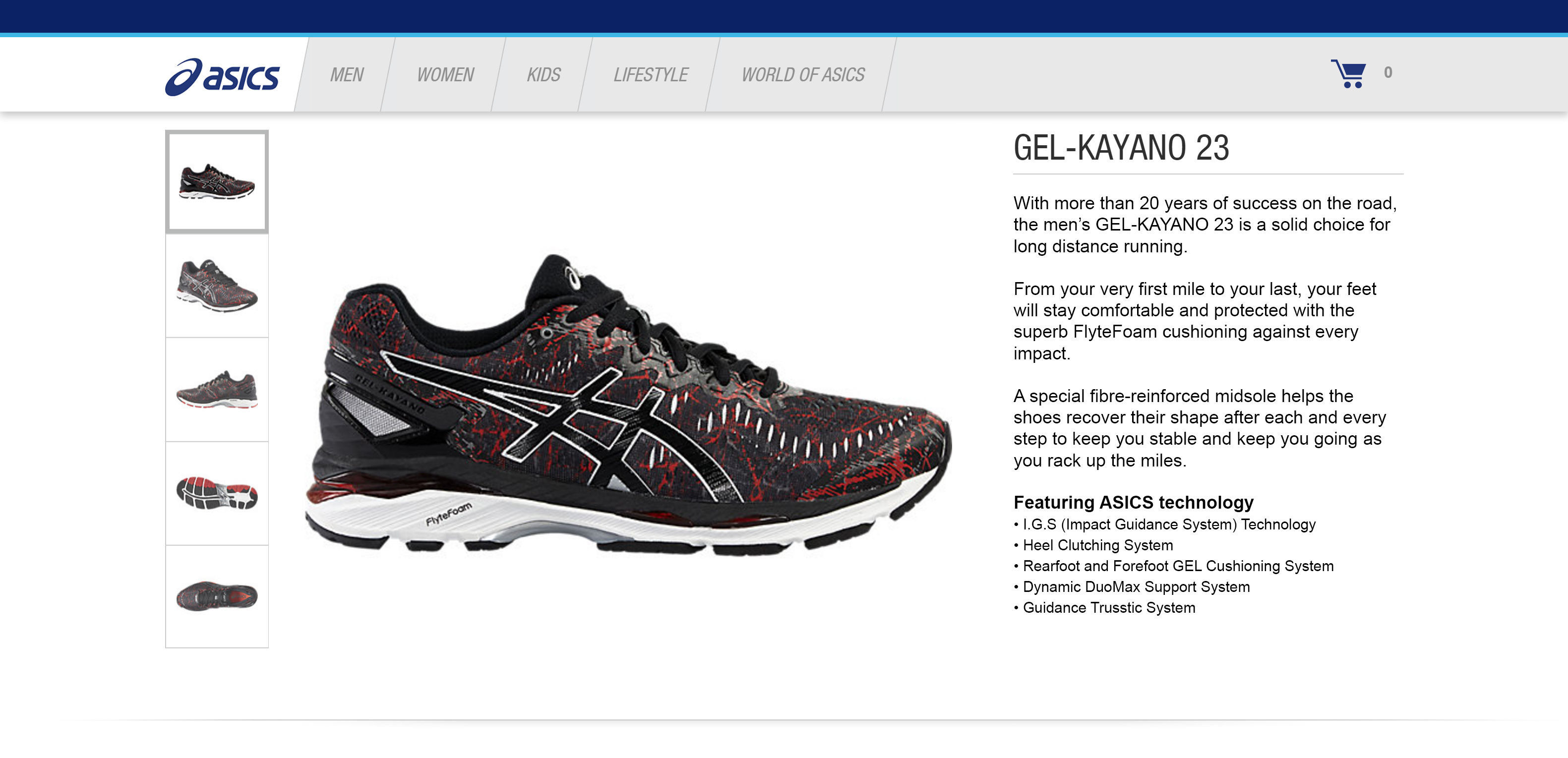 GEL-KAYANO 23 screenshot